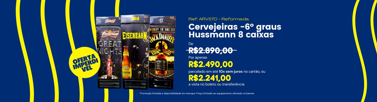 Banner Cervejeira reformada 8cx Hussmann -6° por R$2490,00